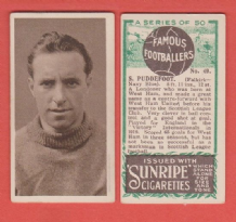 Falkirk Syd Puddefoot England 49